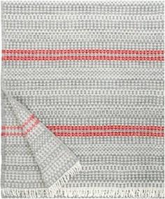 Vlnená deka Aino 130x170, sivo-červená Lapuan Kankurit