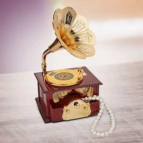 Hracia šperkovnica Gramofón