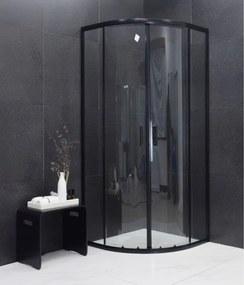 MEXEN RIO - Štvrťkruhový sprchovací kút 80x80 cm, čierna, 863-080-080-70-00