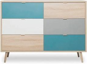 Farebná komoda Intertrade Cuba, 120 x 85 cm