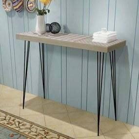 vidaXL Prístavný stolík, 90x30x71,5 cm, šedý