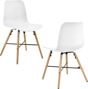 en.casa ® Dizajnová stolička - 2 ks sada - 80 x 44 6266c3b01d