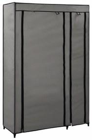 vidaXL Skladacie šatníky 2 ks sivé 110x45x175 cm látkové