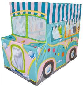 Dětský stan IPLAY Zmrzlinářské auto modrý
