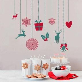 Housedecor Vianočné dekorácie na stenu - ozdoby II