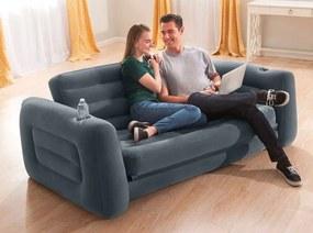 DomTextiluRozkladací nafukovací gauč 2v1 v tmavosivej farbe 224 x 203 x 66 Sivá