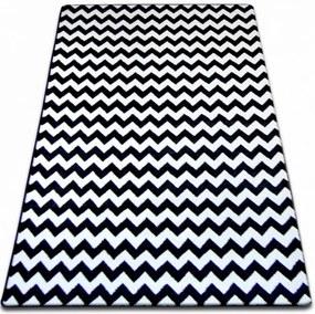 Kusový koberec Nero čiernobiely, Velikosti 80x150cm