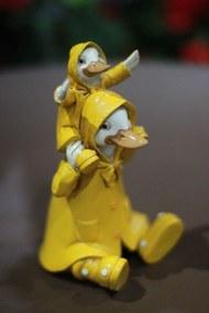 Žlté sediace sošky kačiek 14cm