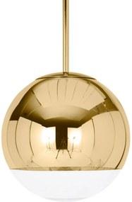 Tom Dixon Mirror Ball – závesná lampa zlatá 25cm