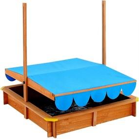 Jurhan & Co.KG Germany Pieskovisko so strieškou, drevené s priestorom na hranie, ochrana UV 50, kryt 1,4m²