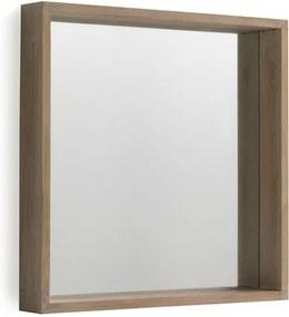 Nástenné zrkadlo z dreva paulovnie Geese Pure, 60 × 60 cm