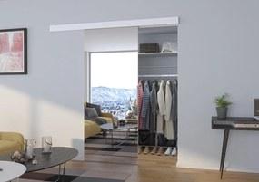 Zrkadlové dvere posuvné Berat - biela - 01 - 86 cm