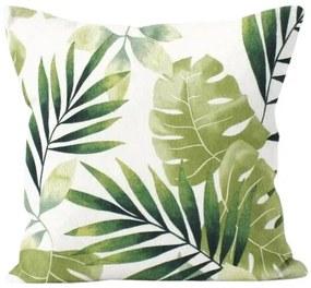 Domarex Obliečka na vankúšik Green Leaves, 40 x 40 cm, 40 x 40 cm