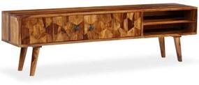 vidaXL Skrinka na TV, drevený masív sheesham 140x30x40 cm