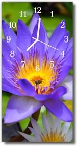 Sklenené hodiny vertikálne  Kvety. farebné kvety