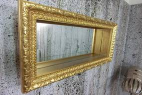 (2867) VETRINA FOGLIA nástenná vitrína zlatá