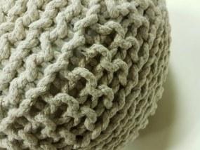 KUDOS Textiles Pvt. Ltd. Sedací vak TEA POUF 21 béžový - 40x40x35 cm