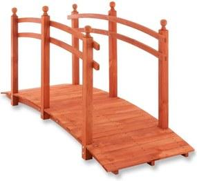 Záhradný drevený mostík so zábradlím - 235 x 75 x 109 cm