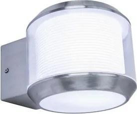 LUTEC 5198701001 WHISPER nástenné svietidlo E27 25W IP44 nerez