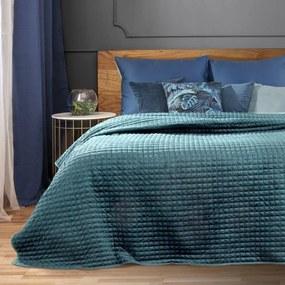 DomTextilu Jednofarebný azúrovo modrý prešívný prehoz na posteľ Šírka: 170 cm   Dĺžka: 210 cm 15295-102739