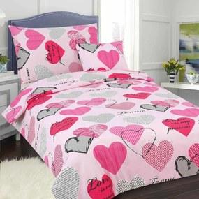 HOD Obliečky PASSION ružová Bavlna 70x90 140x200 cm