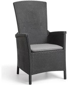 """Allibert Sklápacia záhradná stolička """"Vermont"""", grafitová šedá, 238452"""