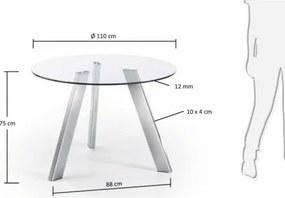 CAMP stôl chróm, Rozmer 110 cm