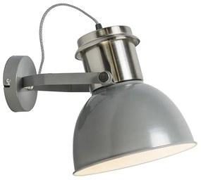 Priemyselné nástenné svietidlo sivé - Priemyselné