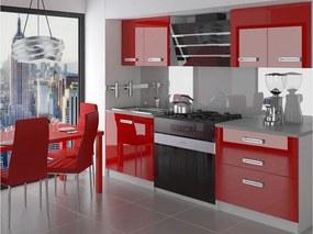 Malá červená kuchynská linka 120 cm Tera