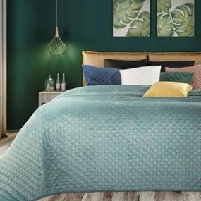 DomTextilu Elegantný mentolový prehoz na posteľ Šírka: 220 cm   Dĺžka: 240 cm 21759-153437