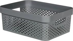 CURVER INFINITY 4,5L Úložný box 26 x 18 x 12 cm, recyklovaný plast, tmavo sivý 04747-G43