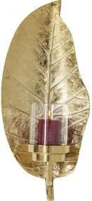 KARE DESIGN Sada 2 ks − Svietnik Leaf zlatý