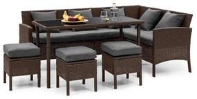 Titania Dining Lounge Set, záhradná sedacia súprava, hnedá/tmavosivá