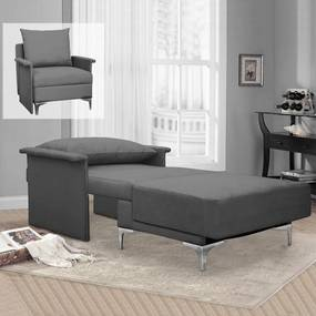 Rozkladacie multifunkčné kreslo + posteľ BARON – sivá farba