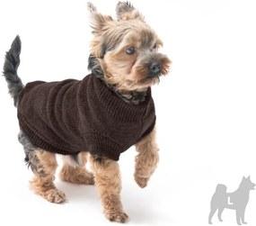 Hnedý svetrík pre psov Marendog Trip, veľ. L