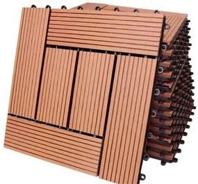 InternetovaZahrada - WPC dlaždice 11 ks = 1 m² -  mozaiková terakota - 30x30cm