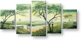 Ručne maľovaný obraz na stenu AFRIKA FB426E5