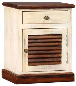 vidaXL Nočný stolík sheeshamové a mangovníkové drevo 30x40x50 cm