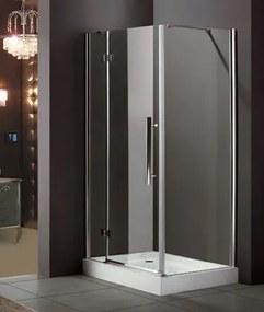 Aquatek Better R23 CHRÓM Sprchovací kút, číre sklo 8 mm, 120 × 80 × 195 cm