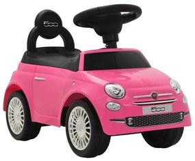 vidaXL Detské autíčko Fiat 500, ružové