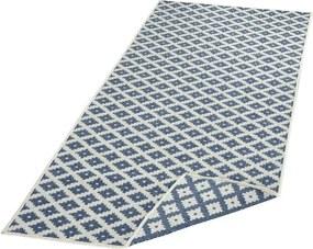 Bougari - Hanse Home koberce Kusový koberec Twin-Wendeteppiche 103128 blau creme - 80x150 cm