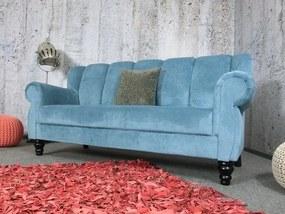 (2515) DINNER elegantná pohovka modrá 205cm