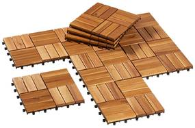 FLORABEST® Drevené dlaždice, 10 kusov (100320359)