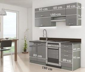 Kuchynská linka GREY 180 SP + 3D návrh v cene