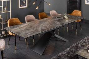 Rozťahovací keramický stôl Natasha 180-220-260 cm mramor