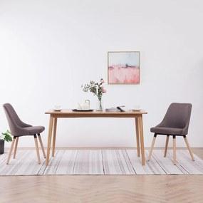 vidaXL Jedálenské stoličky 2 ks sivohnedé látkové