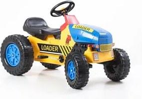 G21 Šliapací traktor Classic žlto / modrý