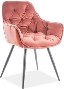 Expedo Jídelní židle BERRY Velvet, 45x83x44, bluvel 52