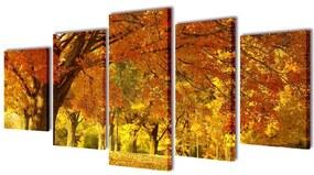Sada obrazov na stenu, motív Javor 200 x 100 cm