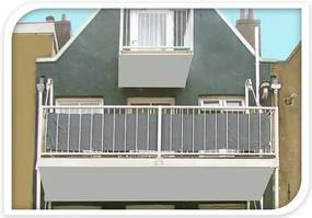 Balkónová zástena svetlosivá, 76 x 445 cm